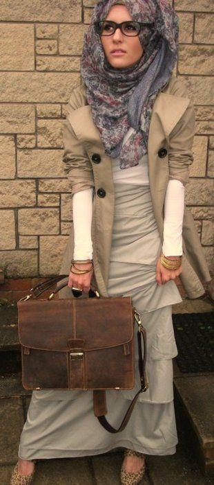 super voluminous hijab + awesome dress