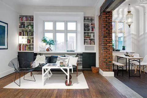 apartment Swedih design Delightful One Room Scandinavian Crib With Plenty o...