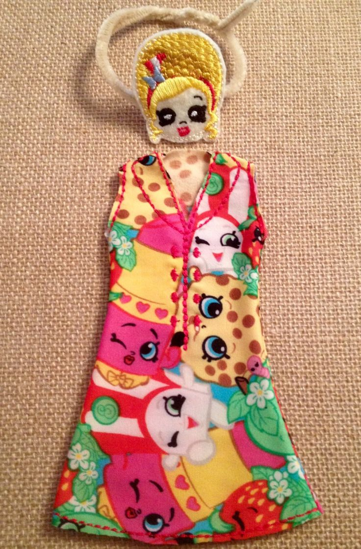 """Elf or 12"""" Doll Poppette Shopkins Dress and Mask by LoveOnANeedle on Etsy"""