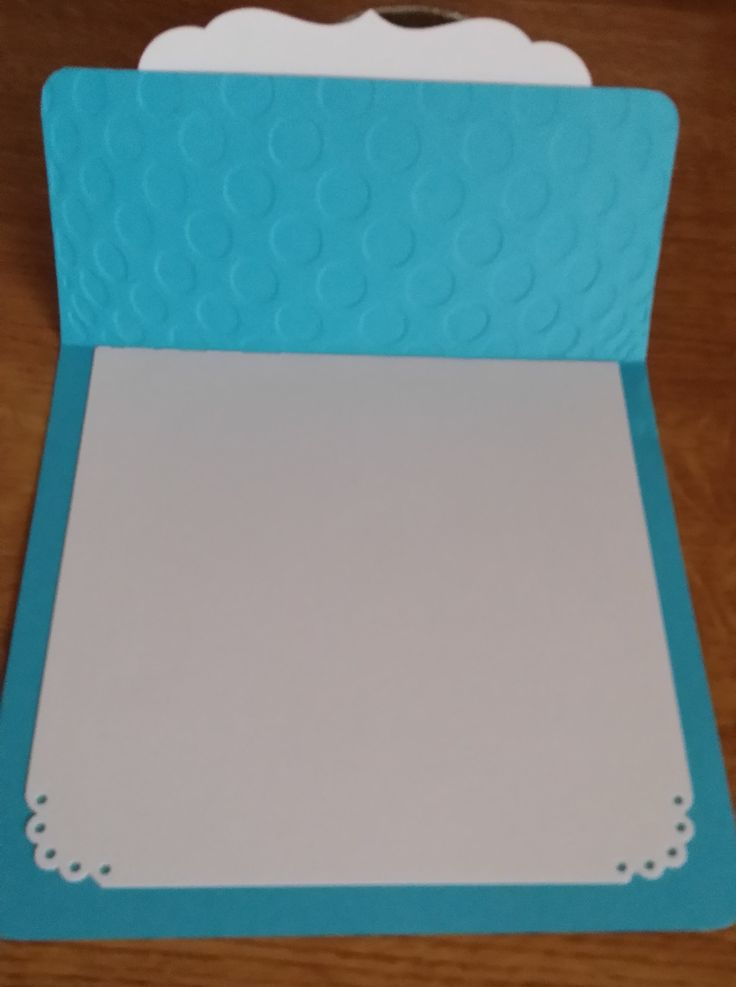 Blue template for invitation