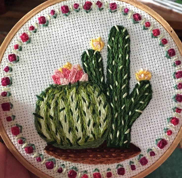 Mejores imágenes de embroidery cacti fungi en