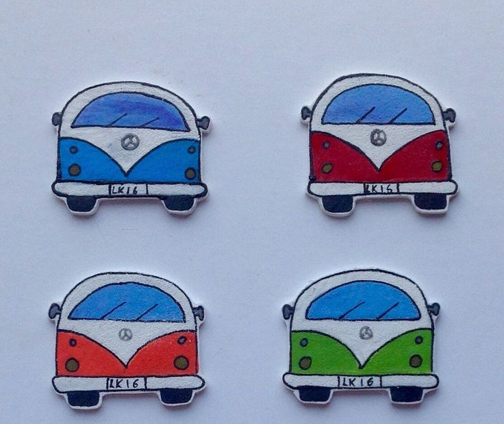 Retro Campervan Fridge Magnets Set of 4 Personalised Options Available, Wedding Favours by Lindoskate on Etsy https://www.etsy.com/uk/listing/479578984/retro-campervan-fridge-magnets-set-of-4