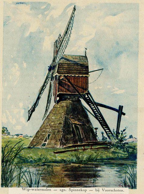 wipwatermolen Voorschoten 1925
