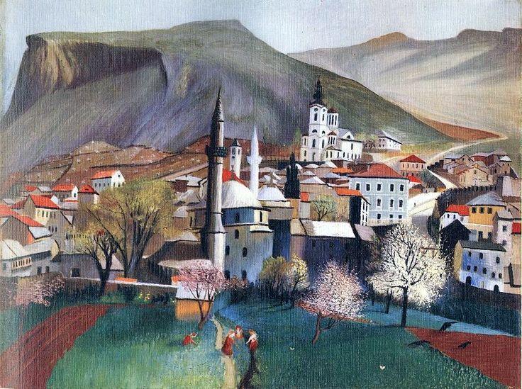 Csontváry Kosztka Tivadar: Tavasznyílás Mosztarban (1903)