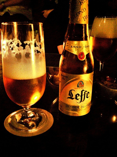 Leffe Blonde- Belgian ale...I have a big weakness for anything Belgian.