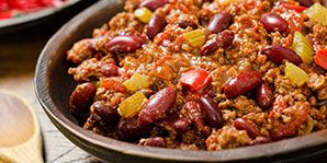 Chili tucked away in the freezer is always helpful on busy days.