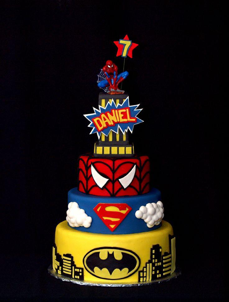 - Ka-Pow!! a superhero cake for a super boy!!
