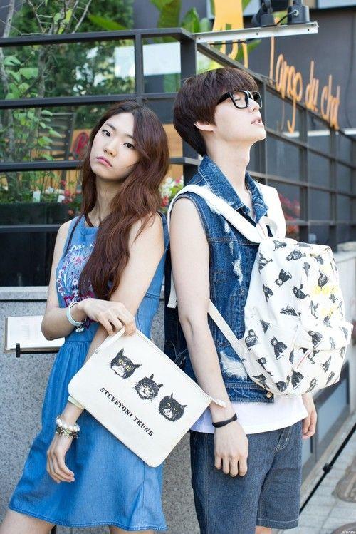 Streetstyle: Joo Seon Young and Ahn Jae Hyun in Steve J & Yoni P shot by Park Jimin.
