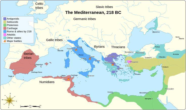 Mediterranean in 218 BC.