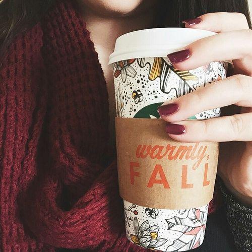 fall, autumn, and coffee εικόνα