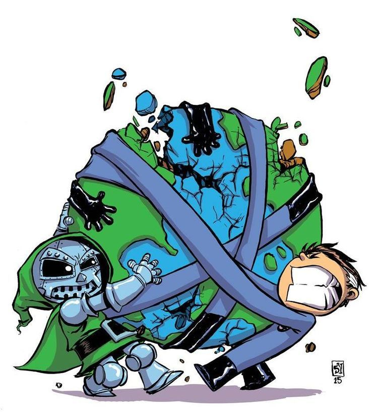Dr. Doom vs. Mr. Fantastic - Skottie Young