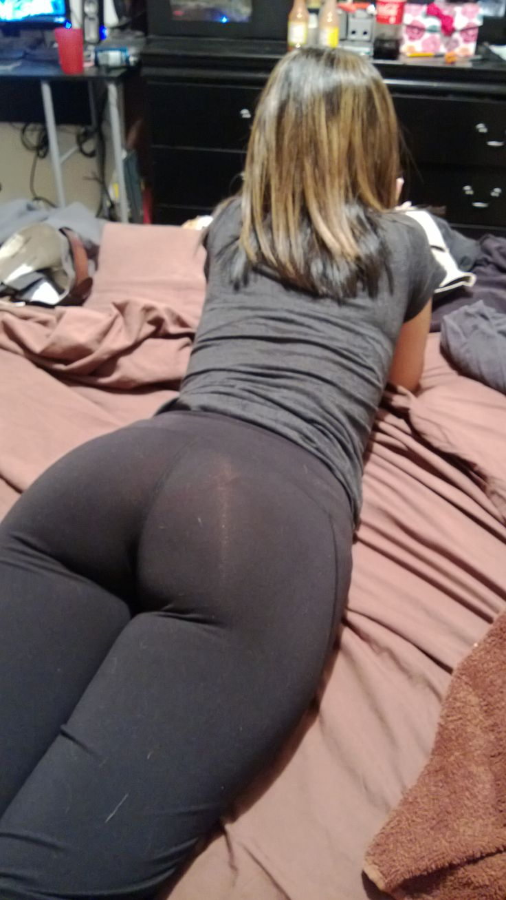 Sexy, Thick Yoga Pants Laying On The Bed Whos Up For -7916