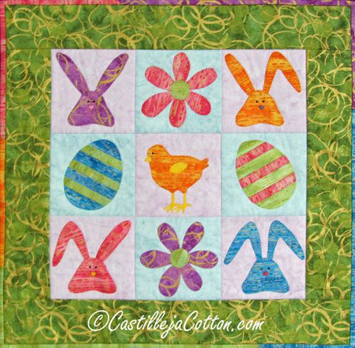 Easter 9-patch Quilt Pattern