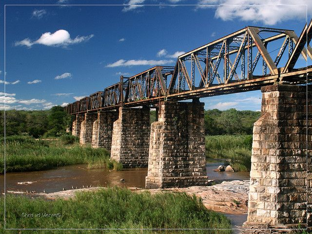 Sabie Bridge    Old train-bridge close to Skukuza in Kruger Nas. Park South Africa