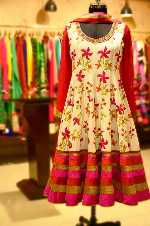 short anarkali dress