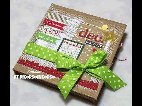 December daily 2014-Mini album Scrapbooking-Paper bag Mini Album | l'arte vista da me