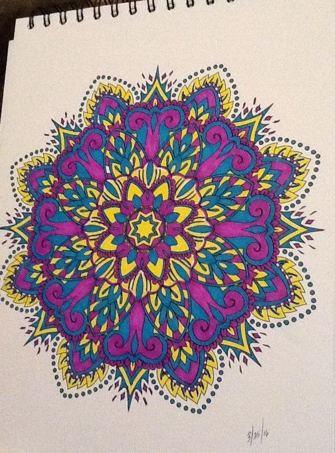 ColorIt Mandalas to Color Volume 1 Colorist: Nancy Mejia #adultcoloring #coloringforadults #mandalas #mandalacoloringpages