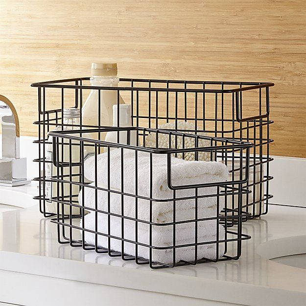 Black Wire Baskets - 11W x 6D x 6H & 13W x 8D x 8H
