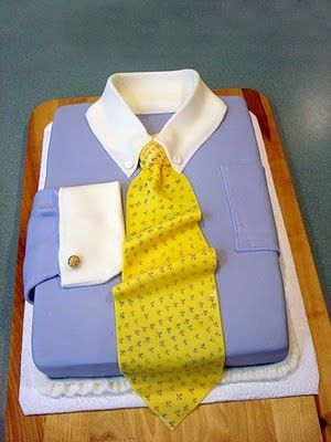 #Shirt And #Tie #Cake Looking fabulous! We totally love and had to share! Great #CakeDecorating! What will you be baking and decorating for Dad this year?