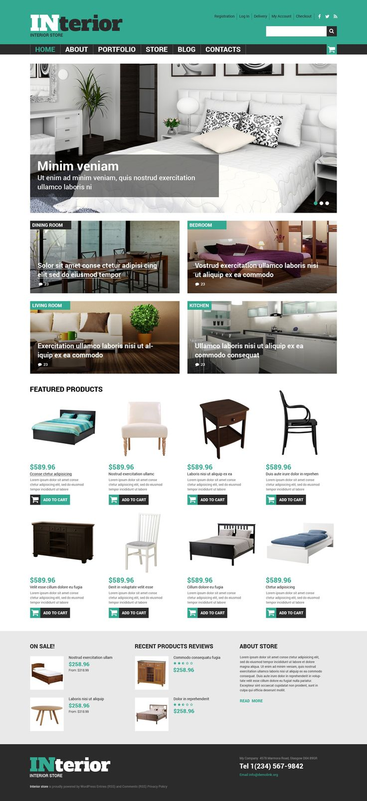 Free Interior Store WooCommerce Theme
