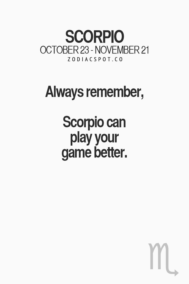 From one Scorpio to another, you fucked up.  Xx