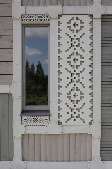 Older story »  Deco Pattern House by Peter Kostelov inShare0 17 July 2013 | Leave a comment More:      Architecture     Residential     Slideshows  Previous      1     2     3     4     5     6     Pause  Next  This guest house by Russian architect Peter Kostelov has a patchwork timber facade with perforated panels that look like paper doilies