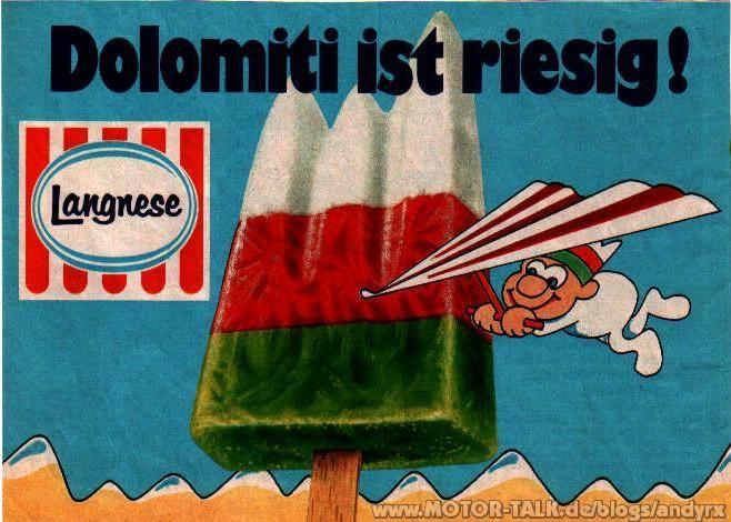 Dolomiti-Eis aus den 70er Jahren / 80 der