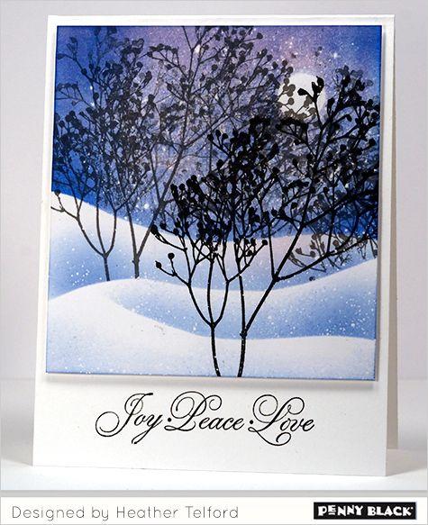 I love the shading of the snow! Winter Wonderland tutorial