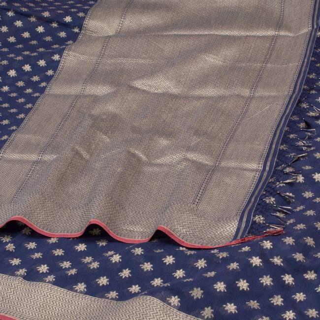 Shivangi Kasliwaal Handwoven Banarasi Cotton Sari 10001014 - AVISHYA.COM