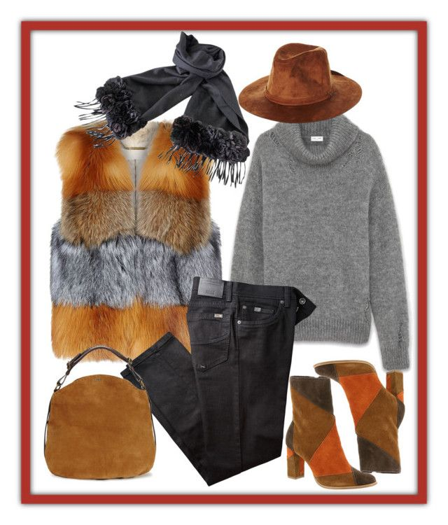 Getting really cold! by amisha73 on Polyvore featuring moda, Yves Saint Laurent, MICHAEL Michael Kors, BRAX, Matisse, UGG, Fendi and Brixton