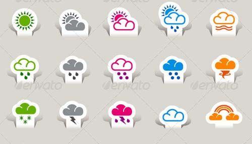 30  Premium Cloud Icons Set
