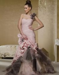 Anjolique Gown Style A400- What do you think of the pink & black?