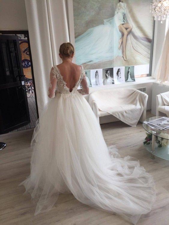 Suknie - Suknia ślubna KELSI - MAUREEN - Atelier Sylwia Kopczyńska - 3 900,00zł
