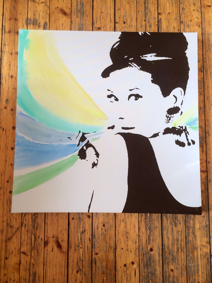 IKEA canvas Audrey Hepburn // upgrade // Anniken Quirk