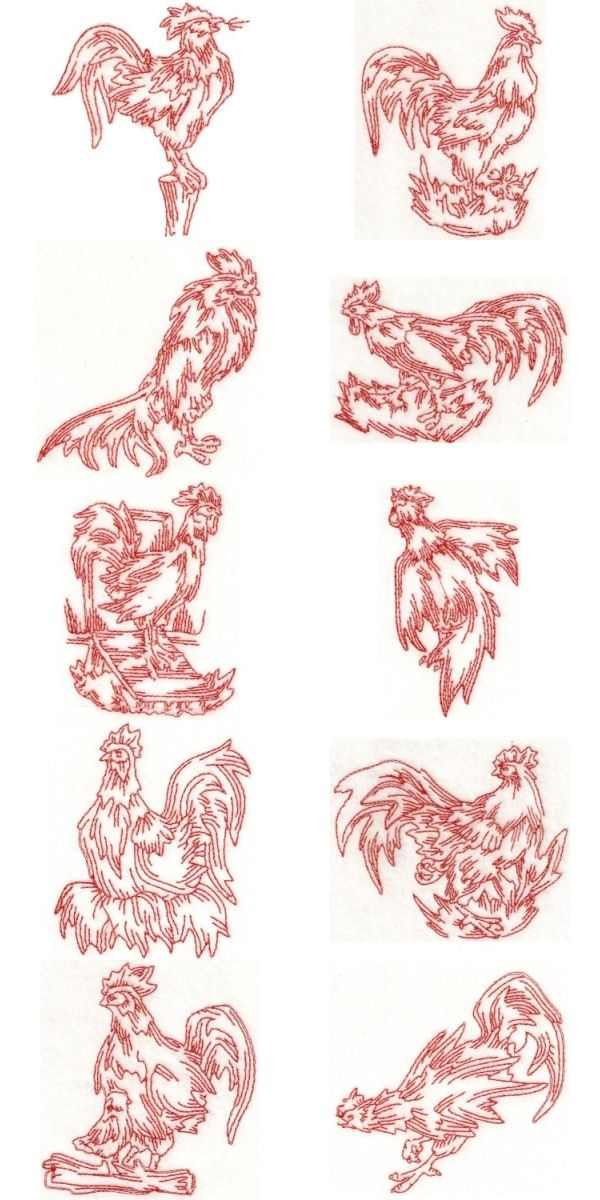 kitchen patterns and designs roosters embroidery designs embroidery designs software 5502