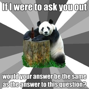 Well played, Pickup-Line Panda. Well played indeed.
