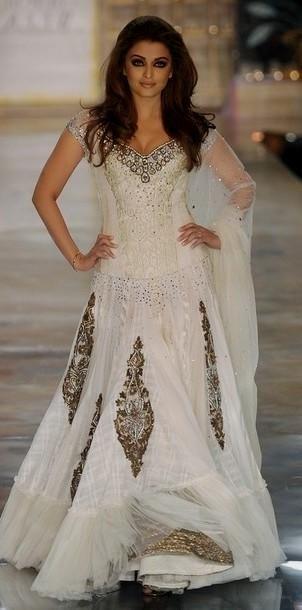 Indian inspired wedding gown Aishwarya Rai. #gown #wedding #dress ...