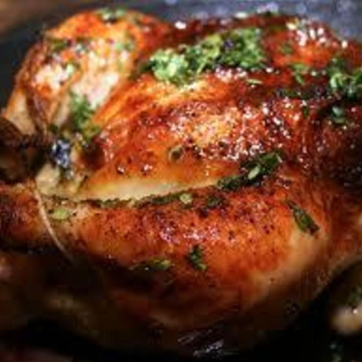 how to roast a chicken to juicy perfection. Note to myself - it takes at least 30 minutes less time than shown.