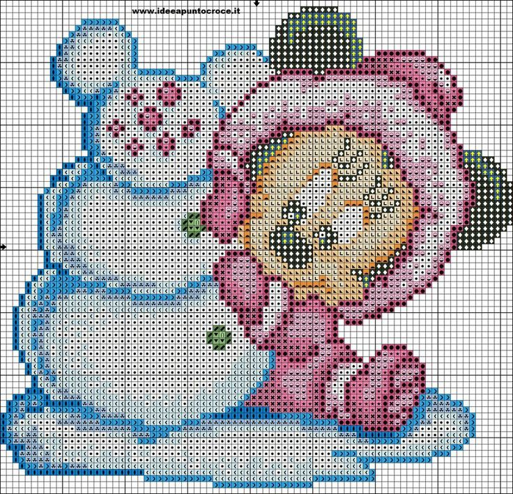 baby minnie cross stitch by syra1974 on DeviantArt
