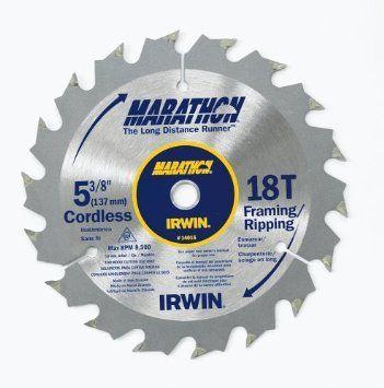 "Irwin Marathon 14015 5-3/8"""" 18T Cordless Circular Saw Blade"