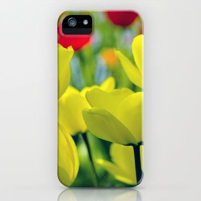 The Yellow Tulips - flower picture iPhone Case by Falko Follert Art-FF77 - $35.00