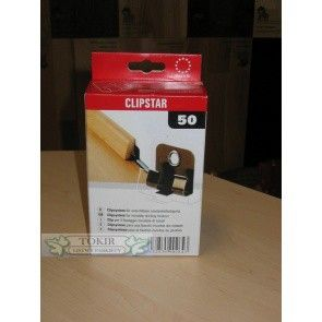 Blaszki clipstar do montażu listew lakierowanych firmy Pedross, bez użycia kleju