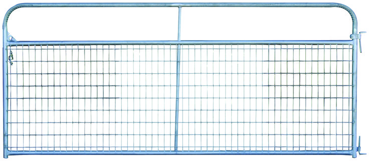 This galvanized version of our Wire-Filled Economy Gate is available in a variety of lengths and is a great gate choice for non-crowding applications.