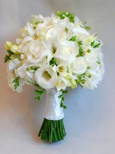 wiązanka ślubna frezje róża biały 2014