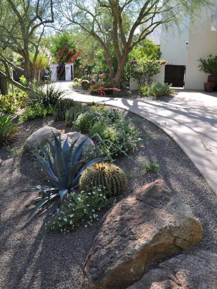 Best 23 Simple And Beautiful Front Yard Landscaping On A ... on Backyard Desert Landscaping Ideas On A Budget id=99940