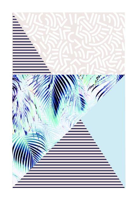 Idée de pattern géométrique et graphique. J'aime les couleurs pastel Day 412…