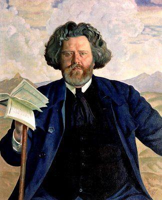 """""""Maximilian Voloshin"""" by Boris Kustodiev (1878-1927)"""