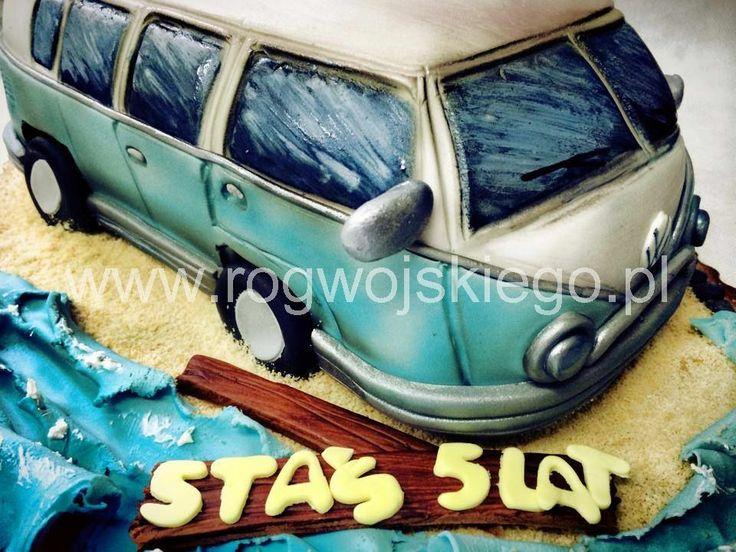 Tort volkswagen ogórek, vw cake, vw ogórek, styl angielski