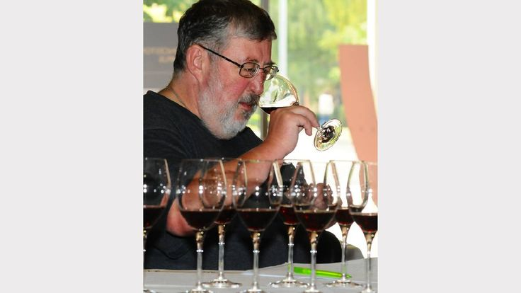 Wine writer Winsor Dobbin during judging for the Festivale's annual Wine Awards. Picture: Neil Richardson