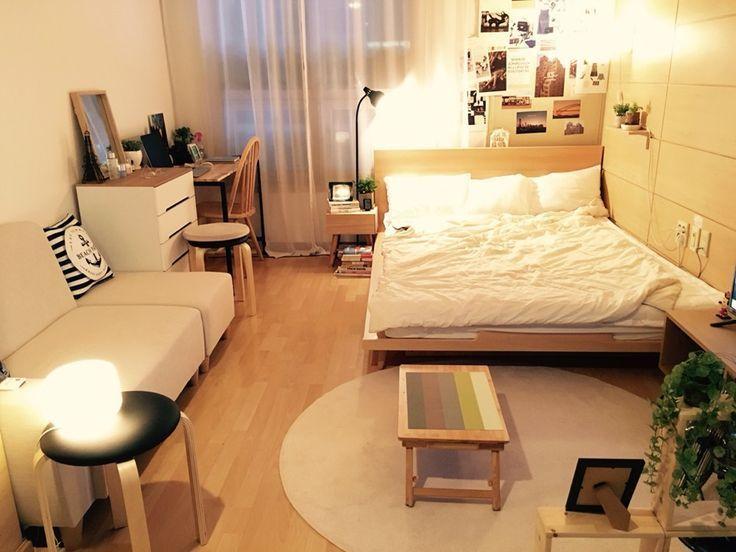 24 Studio Apartment Ideas And Design That Boost Your Comfort Apartment Boost Comfort De Deco Petit Appartement Idee Deco Studio Comment Meubler Un Studio